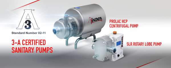 PROLAC HCP and SLR pumps obtained the 3-A sanitary certificate